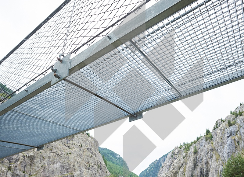 Suspension bridge, Riederalp, Switzerland